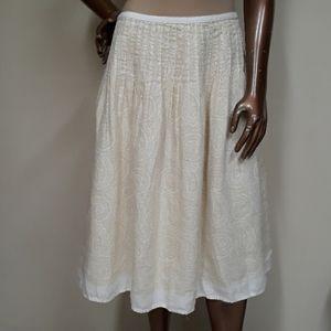 Liz Claiborne Linen Paisley Full Skirt